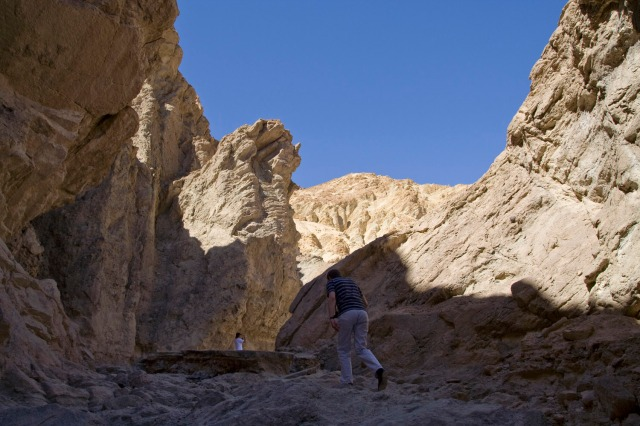Senderismo en Golden Canyon, Valle de la Muerte, Nevada