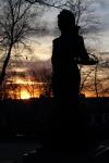 Estatua de La Violetera en el Jardín de las Vistillas