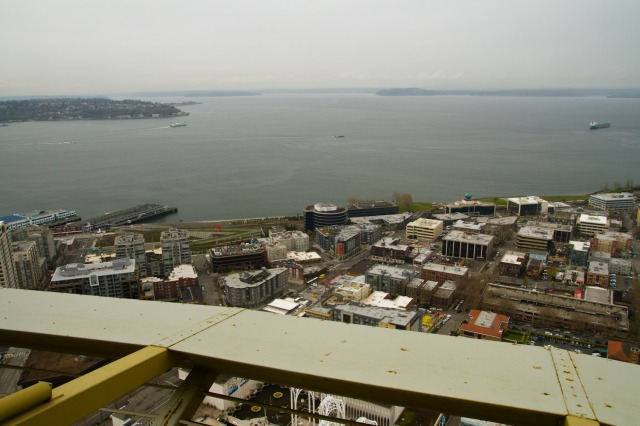 Puget Sound desde el Space Needle, Seattle, EE.UU.