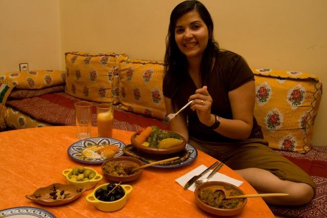 Cenando en Marruecos
