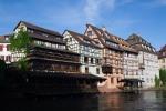 Casas tradicionales en la Petite France, Estrasburgo, Francia